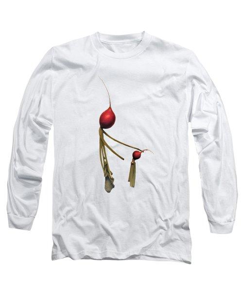 Radish Wisdom - On White Long Sleeve T-Shirt