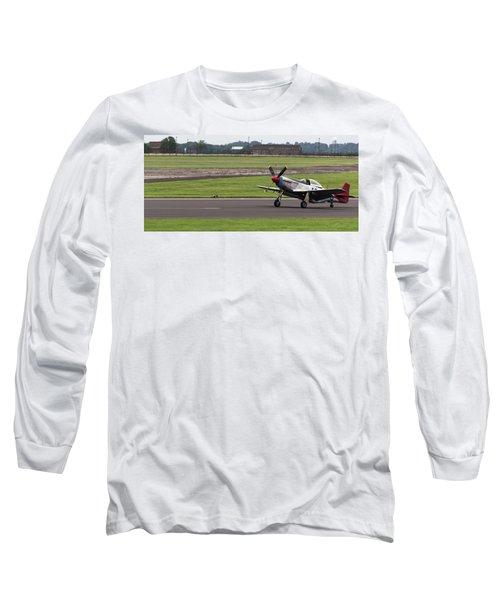Raf Scampton 2017 - P-51 Mustang Landing Long Sleeve T-Shirt