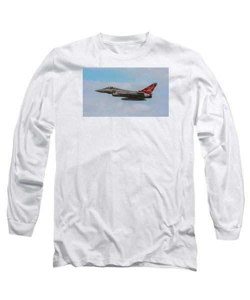 Raf Typhoon In Flight At Uk Airshow Long Sleeve T-Shirt