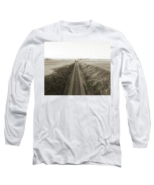 Railroad Cut, West Of Gettysburg Long Sleeve T-Shirt by Jan W Faul