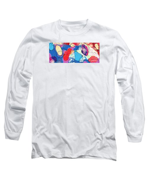 Rain On Stained Glass Window Long Sleeve T-Shirt