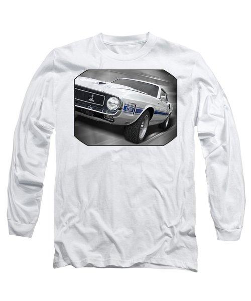 Rain Won't Spoil My Fun - 1969 Shelby Gt500 Mustang Long Sleeve T-Shirt by Gill Billington