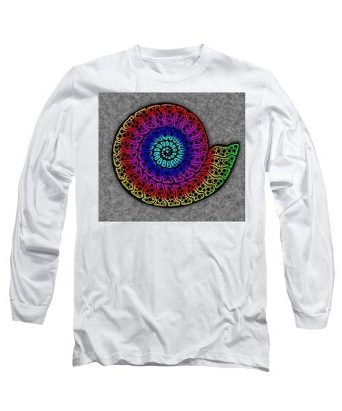 Rainbow Ammonite Long Sleeve T-Shirt