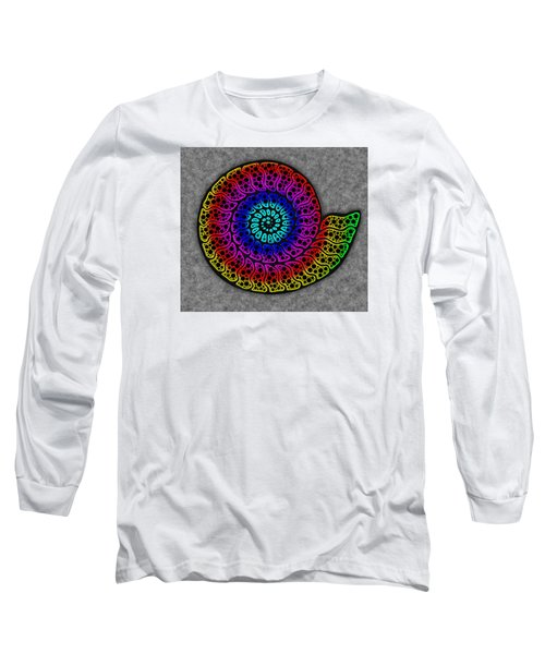 Rainbow Ammonite Long Sleeve T-Shirt