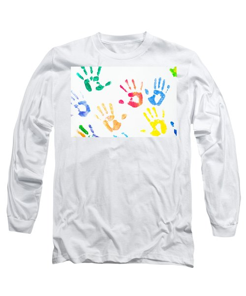 Long Sleeve T-Shirt featuring the photograph Rainbow Color Arms Prints 1 by Jenny Rainbow