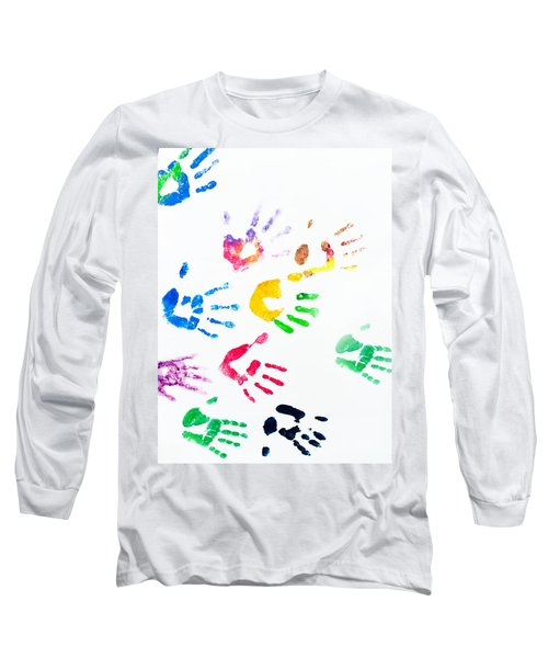 Long Sleeve T-Shirt featuring the photograph Rainbow Color Arms Prints by Jenny Rainbow