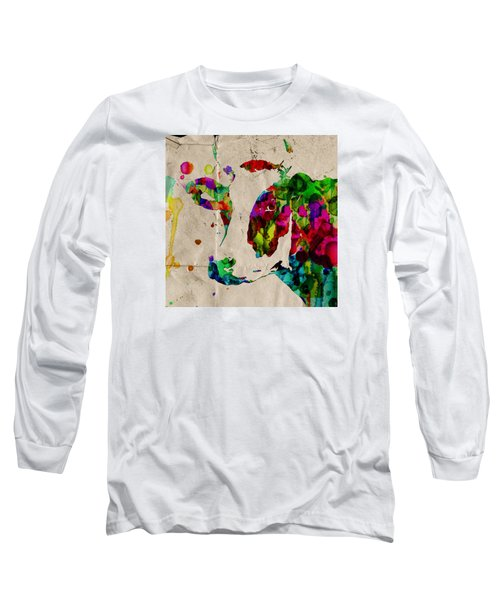 Rainbow Cow Print Poster Long Sleeve T-Shirt