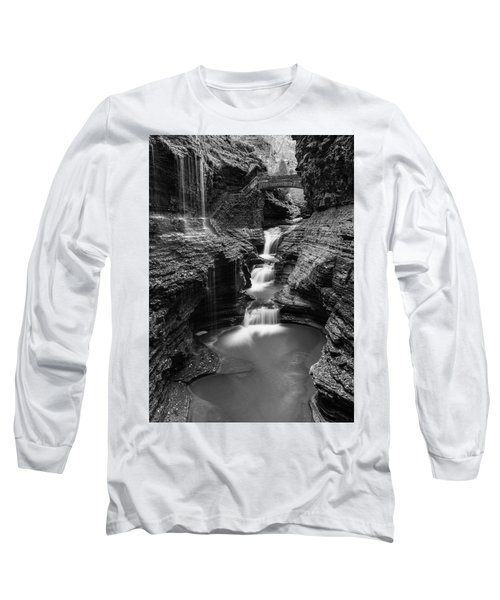 Rainbow Falls Gorge - Watkins Glen Long Sleeve T-Shirt