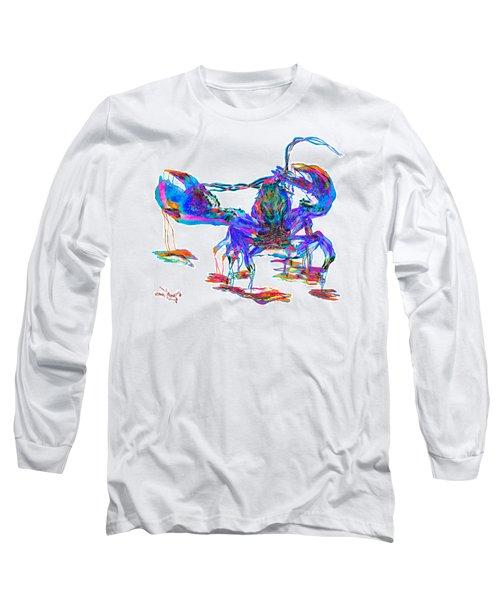 Rainbow Lobster On Acid Long Sleeve T-Shirt