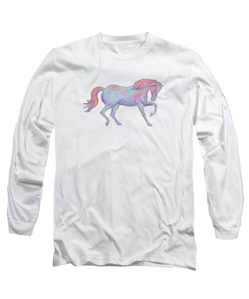Rainbow Pony II Long Sleeve T-Shirt by Elizabeth Lock