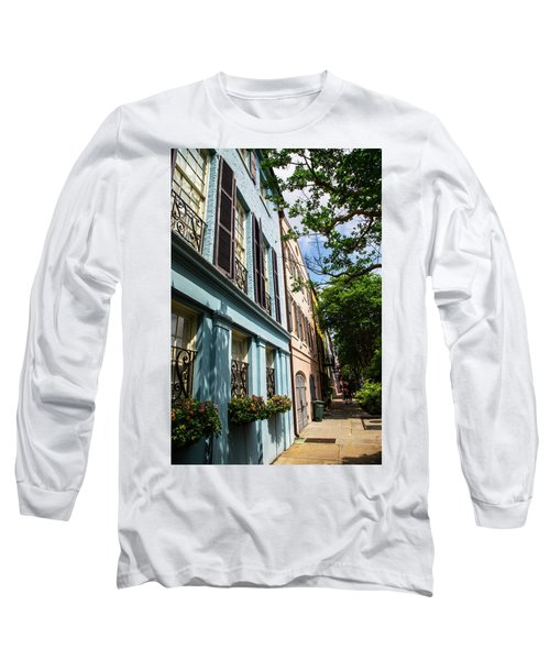 Long Sleeve T-Shirt featuring the photograph Rainbow Street by Karol Livote