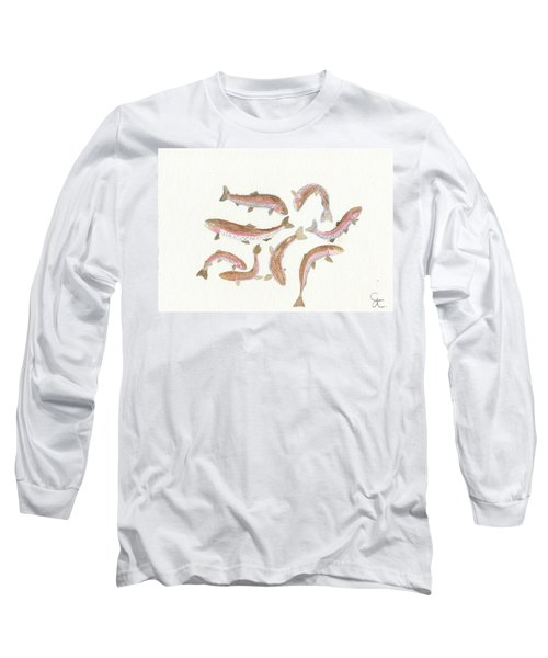 Rainbow Trout Long Sleeve T-Shirt by Gareth Coombs