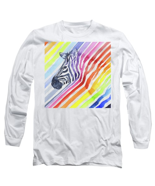 Rainbow Zebra Pattern Long Sleeve T-Shirt
