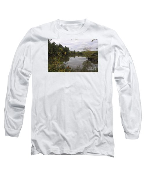 Long Sleeve T-Shirt featuring the photograph Rainy Day Reflections by Sandra Updyke