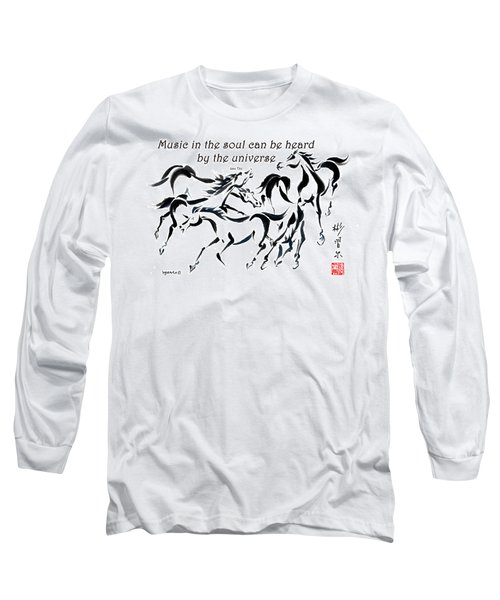 Long Sleeve T-Shirt featuring the painting Rambunctious With Lao Tzu Quote I by Bill Searle
