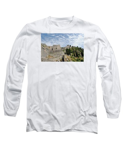 Long Sleeve T-Shirt featuring the photograph Ramparts Of Montenegro by Robert Moss