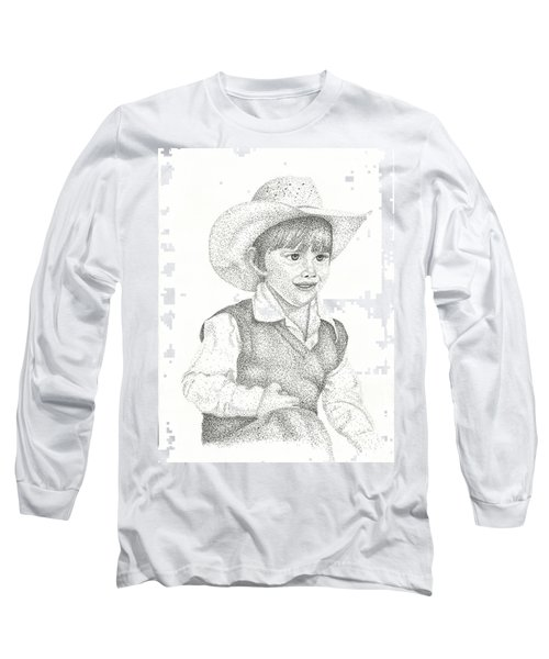 Long Sleeve T-Shirt featuring the drawing Ranch Hand by Mayhem Mediums