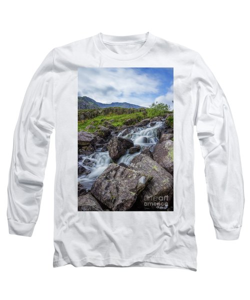 Rapids Of Snowdonia Long Sleeve T-Shirt by Ian Mitchell