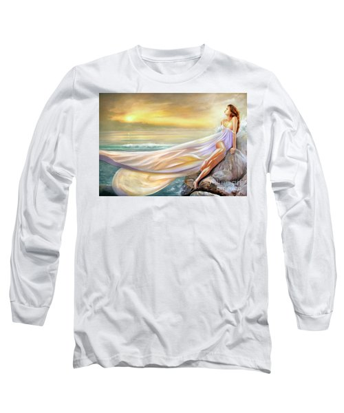 Rapture In Midst Of The Sea Long Sleeve T-Shirt by Michael Rock
