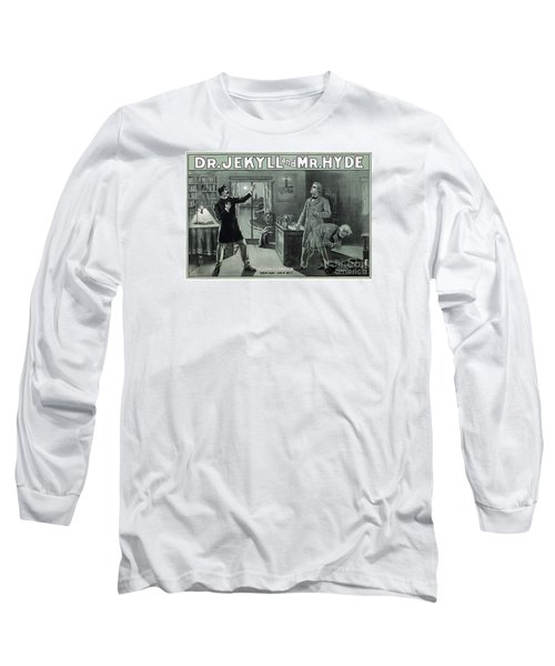 Rare Dr. Jekyll And Mr. Hyde Transformation Poster Long Sleeve T-Shirt by Carsten Reisinger