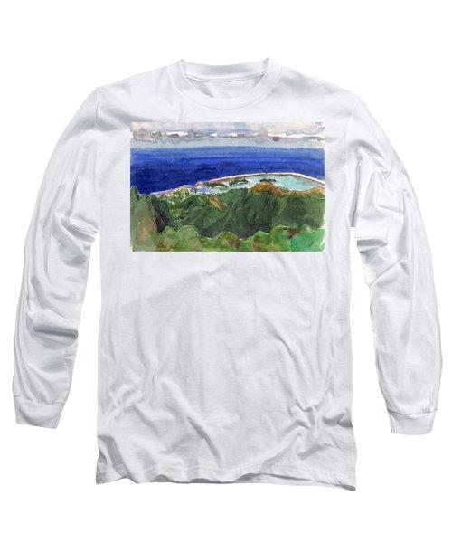Rarotonga, View From Te Manga Long Sleeve T-Shirt