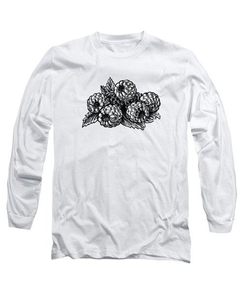 Raspberries Image Long Sleeve T-Shirt by Irina Sztukowski