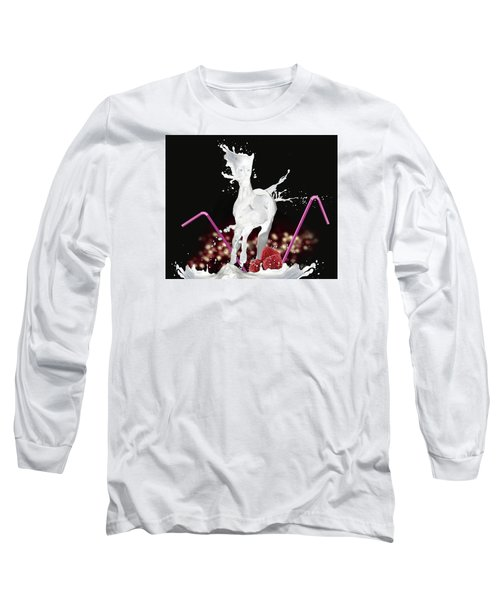 Raspberry Coctail And A Horse Long Sleeve T-Shirt by Kate Black