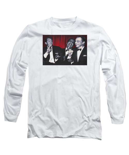 Long Sleeve T-Shirt featuring the painting Rat Pack by Luis Ludzska