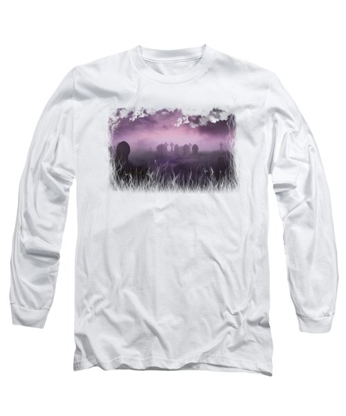 Rave In The Grave On Transparent Background Long Sleeve T-Shirt