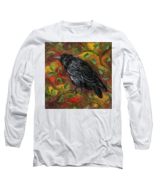 Raven In Autumn Long Sleeve T-Shirt
