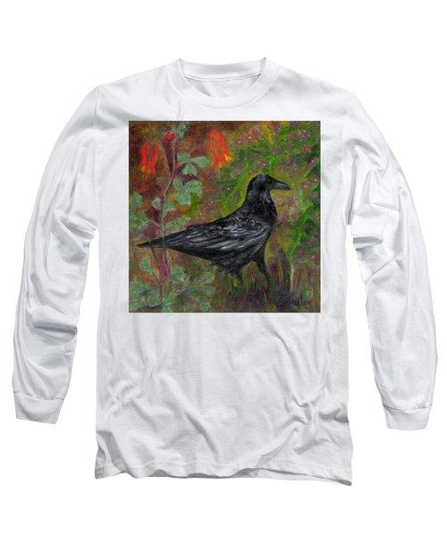 Raven In Columbine Long Sleeve T-Shirt