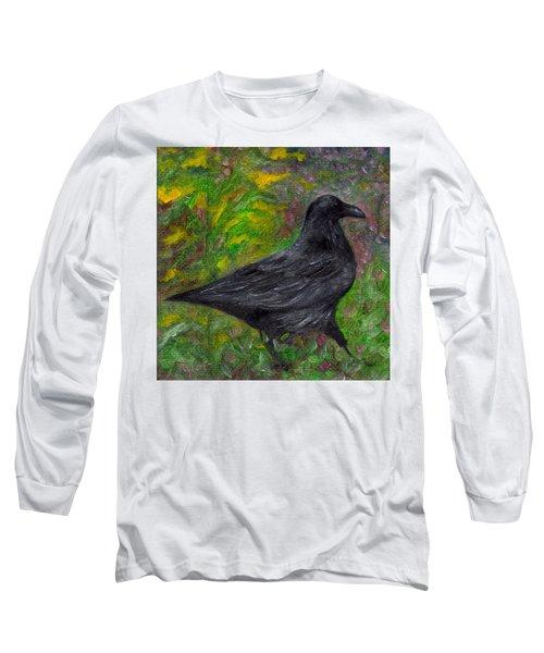 Raven In Goldenrod Long Sleeve T-Shirt