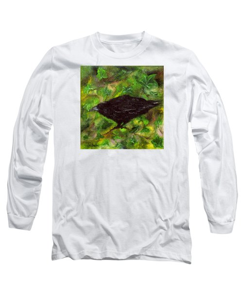 Raven In Ivy Long Sleeve T-Shirt by FT McKinstry
