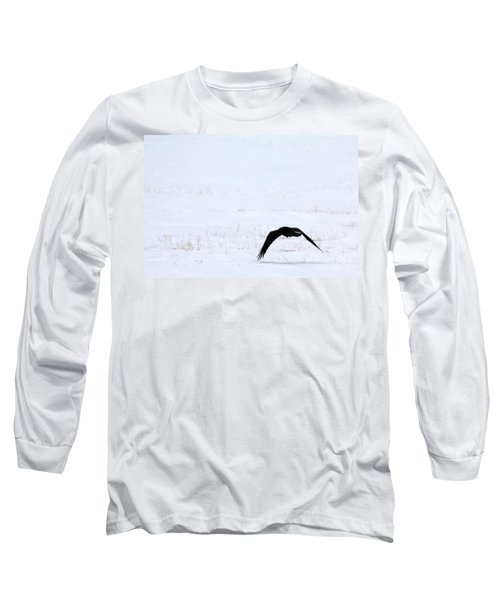 Raven In The Snow Long Sleeve T-Shirt