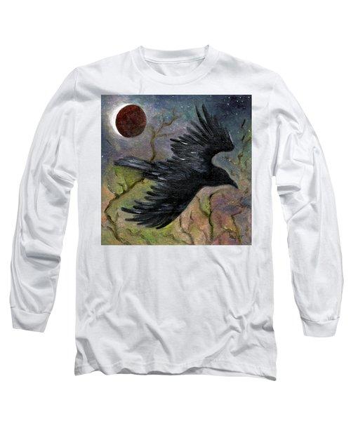 Raven In Twilight Long Sleeve T-Shirt