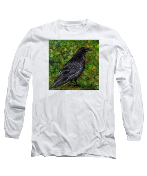 Raven In Wirevine Long Sleeve T-Shirt by FT McKinstry
