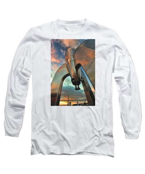 Long Sleeve T-Shirt featuring the photograph Raygun Gothic Rocketship Blast-off by Steve Siri