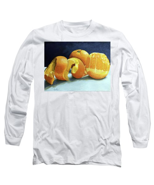 Long Sleeve T-Shirt featuring the painting Ready For Oranges by Linda Apple