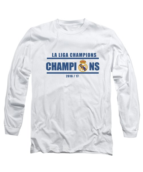 Real Madrid La Liga Champions  Long Sleeve T-Shirt by Ipoy Juki