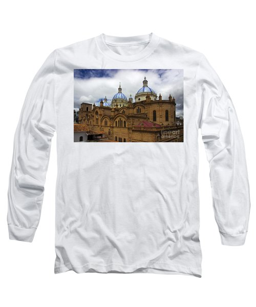 Rear Corner View Of Immaculate Conception Cathedral Long Sleeve T-Shirt by Al Bourassa