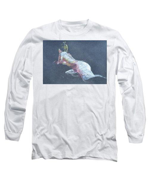 Reclining Study 4 Long Sleeve T-Shirt