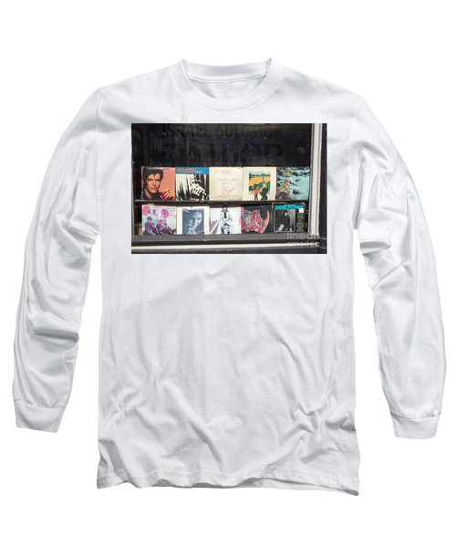 Record Store Burlington Vermont Long Sleeve T-Shirt by Edward Fielding