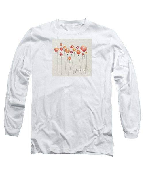 Red Abstract Floral Long Sleeve T-Shirt