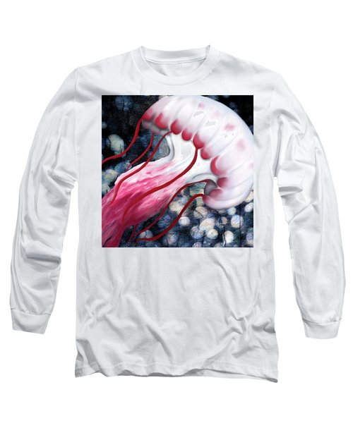 Red And White Jellyfish  Long Sleeve T-Shirt