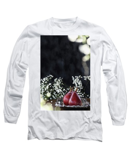 Long Sleeve T-Shirt featuring the photograph Red Anjou Pears by Stephanie Frey