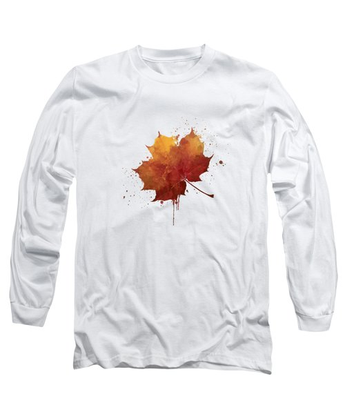 Red Autumn Leaf Long Sleeve T-Shirt