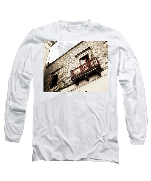 Red Balcony Long Sleeve T-Shirt