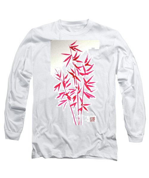 Red Bamboo Long Sleeve T-Shirt