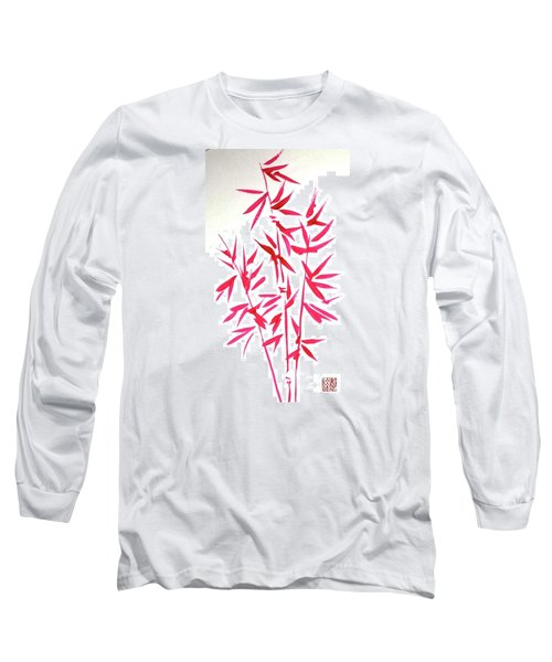 Red Bamboo Long Sleeve T-Shirt