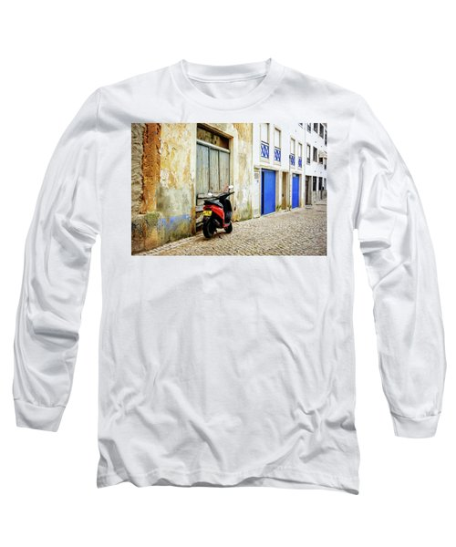 Long Sleeve T-Shirt featuring the photograph Red Bike by Marion McCristall